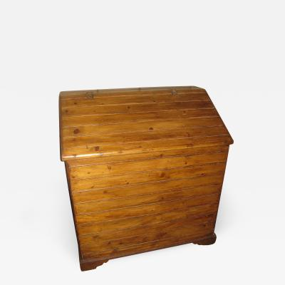 19th Century Primitive Pine Slant Top Wood Box