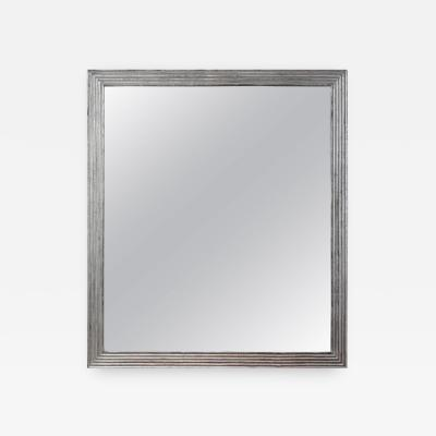 19th Century Reeded Mirror Silver Leaf