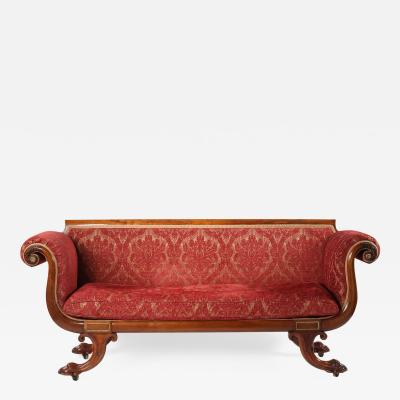 19th Century Regency Gilt Brass Mounted Rosewood Sofa