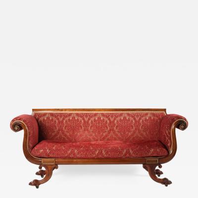 19th Century Regency Gilt Brass Mounted Rosewood Sofa