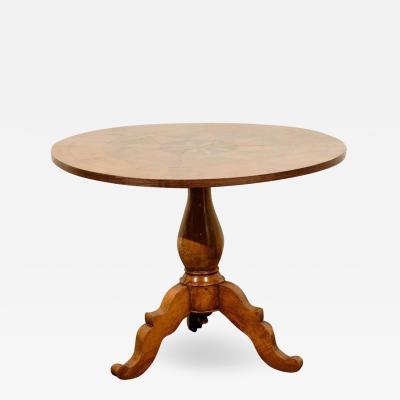 19th Century Round Pedestal Italian Table