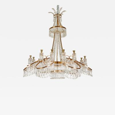 19th Century Russian Chandelier in Bronze Crystal
