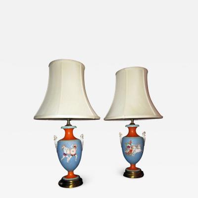 19th Century Samuel Alcock Classical Urn Lamp Pair