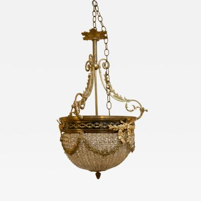 19th Century Second Empire French Petite Size Waterfall Chandelier