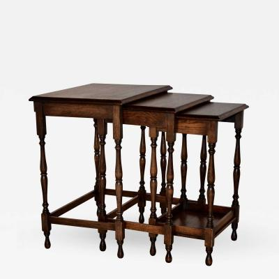 19th Century Set of Three Nesting Tables