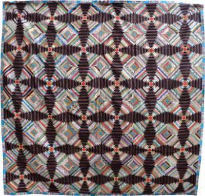 19th Century Silk Quilt
