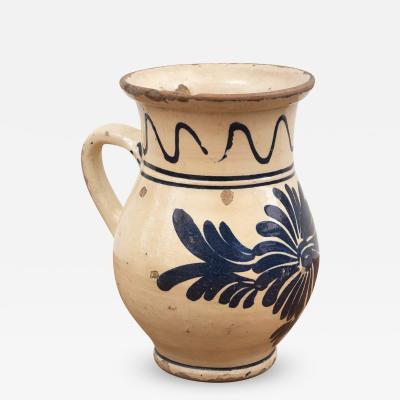 19th Century Spanish Ceramic Glazed Cream Pitcher