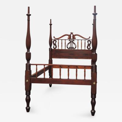 19th Century St Croix Zoomorphic Form Queen Sized Bed