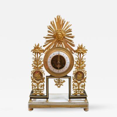 19th Century Sunburst Clock