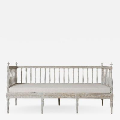 19th Century Swedish Gustavian Period Sofa Bench