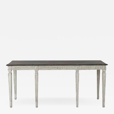 3af014dcbea07 19th Century Swedish Late Gustavian Console Table With Hand Painted  Porphyry Top
