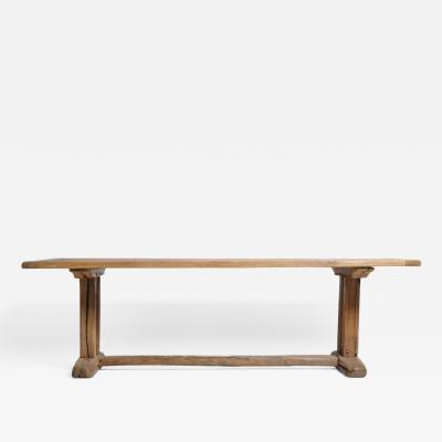 19th Century Swiss Oakwood Farm Table