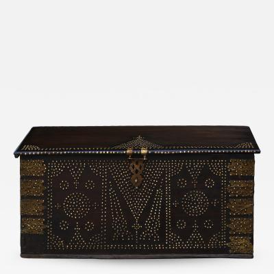 19th Century Teak Brass studded Zanzibar Chest
