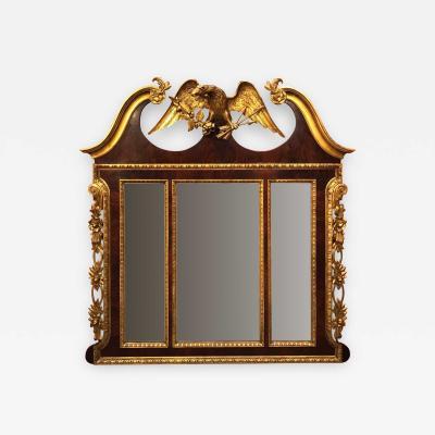 19th Century Three Panel Mirror