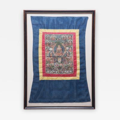 19th Century Tibetan Thangka Painting of Sakyamuni
