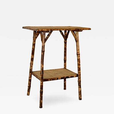 19th Century Tortoise Bamboo Side Table