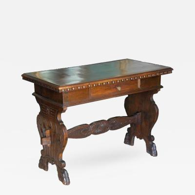 19th Century Tuscan Trestle Writing Table
