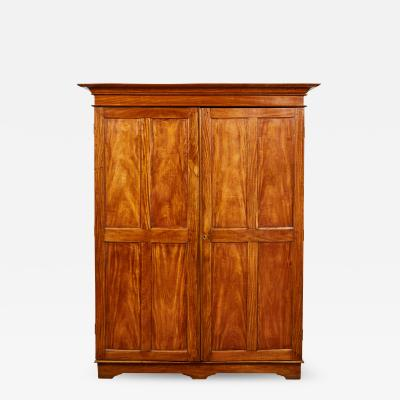 19th Century Two Door Simple Satinwood Cabinet