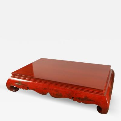 19th Century Very Large Red Kang Table