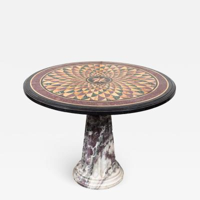 19th Century Vibrant Speciman Marble Garden Table