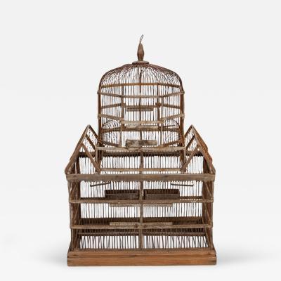 19th Century Wooden Bird Cage