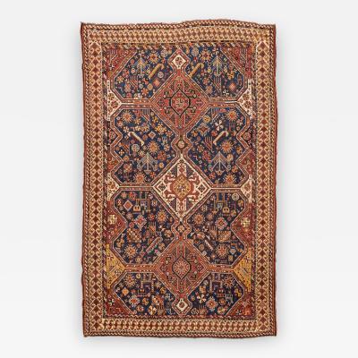 19th Century Wool Rug Kasghay Kasculi Tribal Design circa 1890