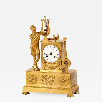 19th French Gilt bronze clock