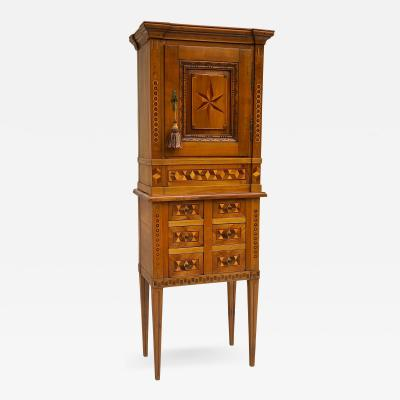 19th c Swiss Marquetry Cabinet