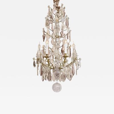 19th c gilt bronze French chandelier