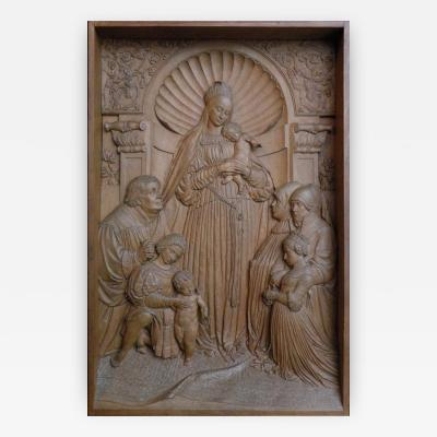 19th century Bas Relief by Peter Nocker after Hans Holbeins Darmstadter Madonna