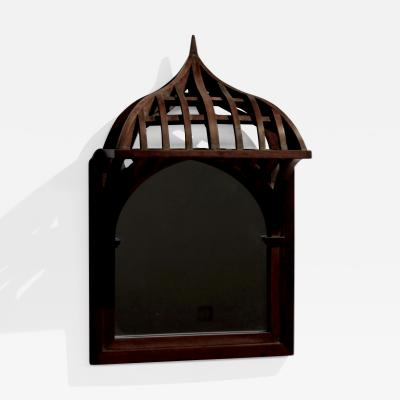 19th century French Architectural Model mounted on Mirror