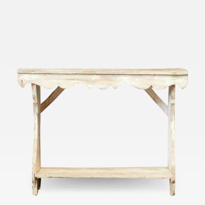 19thC Country Painted Console Table