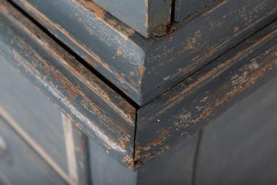 19thC Dutch Painted Housekeepers Cupboard