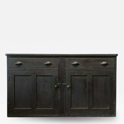 19thC Ebonised Dresser Base