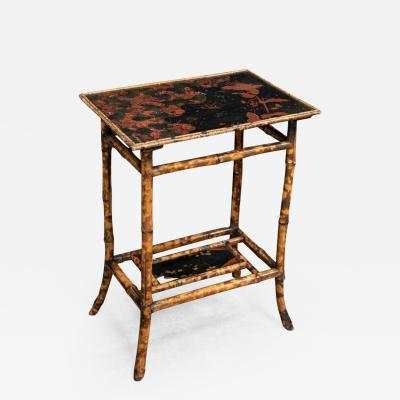 19thC English Chinoiserie Bamboo Side Table