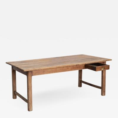 19thC French Fruitwood Refectory Table