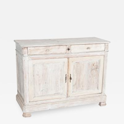 19thC French Painted Fruitwood Buffet