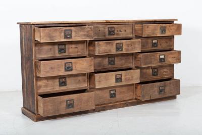 19thC Large Bank of English Workshop Drawers