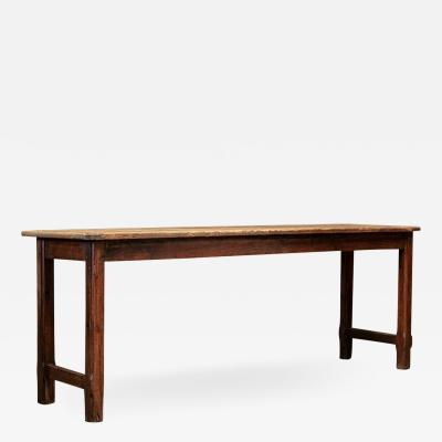 19thC Large English Gothic Pine Server Table