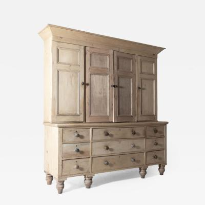 19thC Large English Housekeepers Cupboard