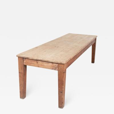 19thC Large English Scrub Top Prep Table