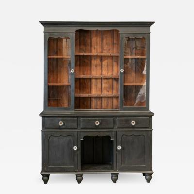19thC Large Oak Ebonised Welsh Dresser