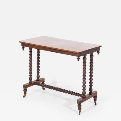 19thC Mahogany Bobbin Side Table