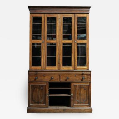19thC Mahogany Glazed Secretaire Bookcase
