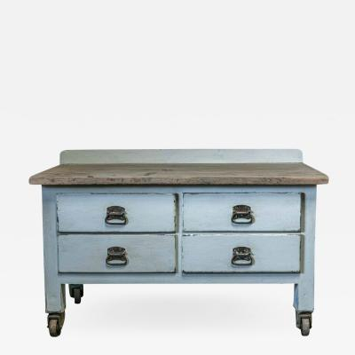19thC Painted Bakers Prep Table