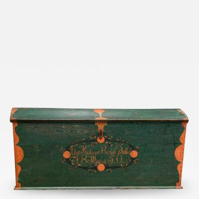 19thC Swedish Marriage Dowry Chest