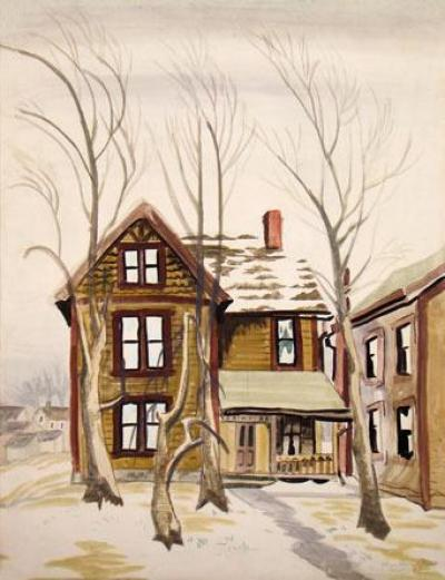 Charles E Burchfield Frosted Windows 1917