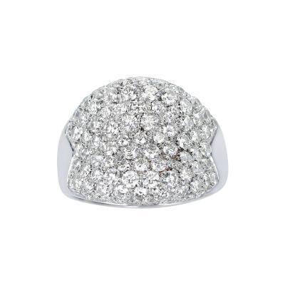 2 50 CTS DIAMOND BOMBE COCKTAIL RING 18K WHITE GOLD