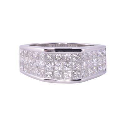 2 89 CTW Princess Cut Diamond Mens Ring