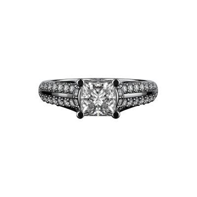2 Carat Princess Cut Diamond Engagement Ring G SI2 14K White Gold